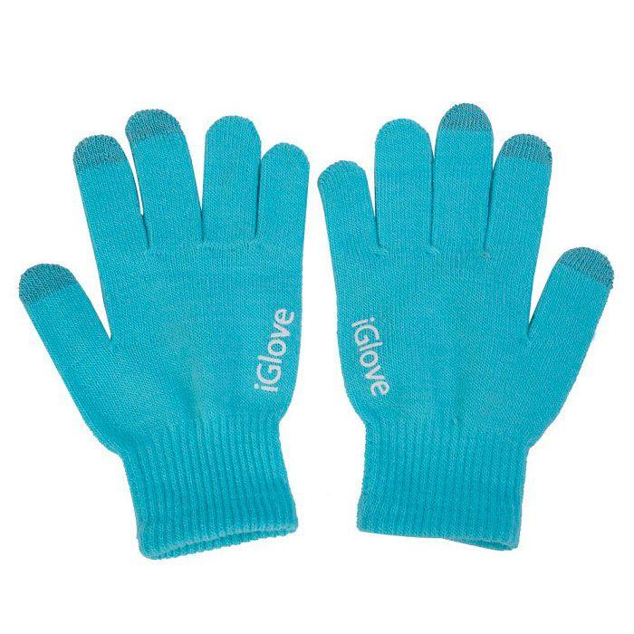 Перчатки iGlove для работы с сенсорными и емкостными экранами, цвет голубой