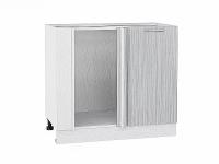 Шкаф нижний угловой Валерия НУ990 в цвете серый металлик дождь