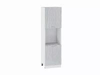 Шкаф пенал с 2-мя дверцами Валерия ШП600Н-Ф47 (серый металлик дождь)