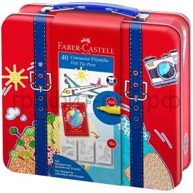 Фломастеры 40цв.Faber-Castell Connector +6 клипов д/соед. + паспорт д/раскраш.155535