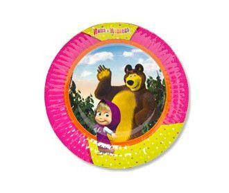 Тарелка бум Маша и Медведь 17см 6шт