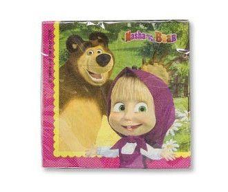 Салфетки Маша и Медведь 33см 20шт