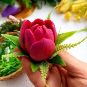 Силиконовая форма тюльпан «Каминс» d 4 см h 5 см примерный вес 38г
