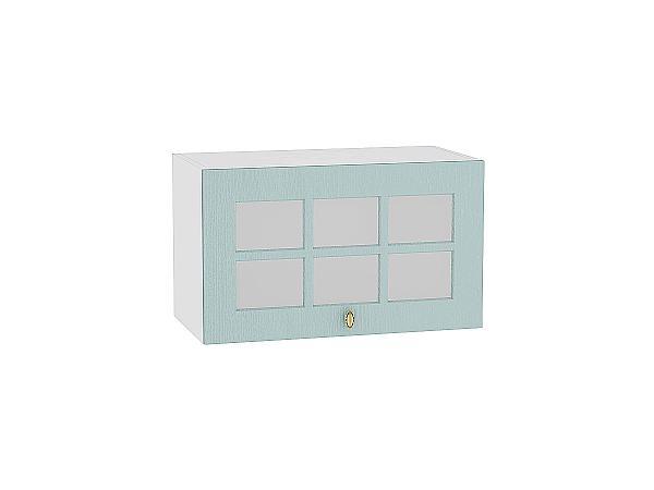 Шкаф верхний Прованс ВГ610 со стеклом (голубой)