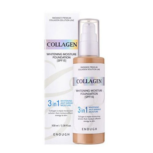 497079 ENOUGH Тональный крем для лица осветляющий с морским коллагеном №21 Collagen 3in1 Whitening Moisture Foundation SPF15 #21