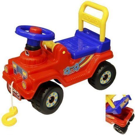 Каталка Джип 4*4 № 4 красный 71828 П-Е