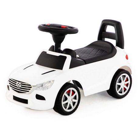 Каталка-автомобиль SuperCar №4 со звуковым сигналом белая 84514 П-Е