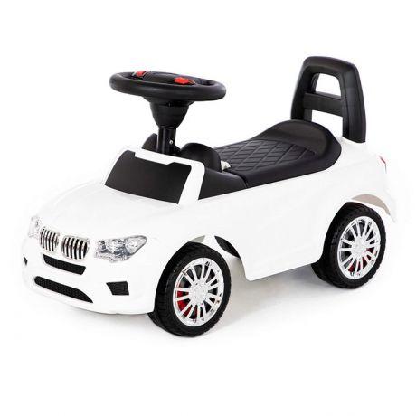 Каталка-автомобиль SuperCar №5 со звуковым сигналом белая 84538 П-Е