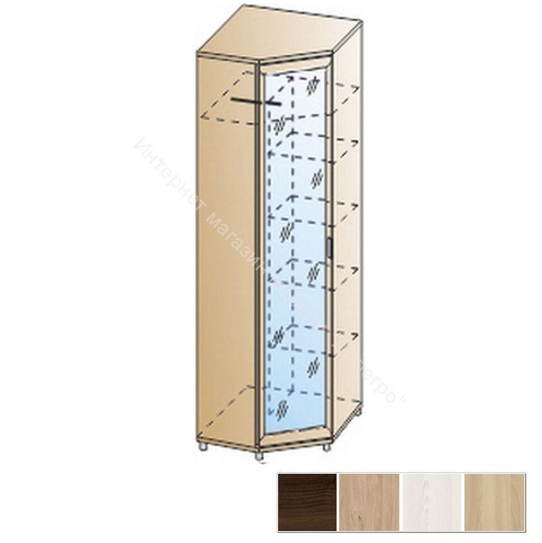 Шкаф ШК-2814 для одежды и белья угловой Мелисса