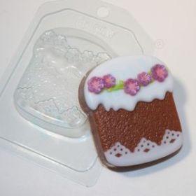Форма для мыла и шоколада Кулич весенний