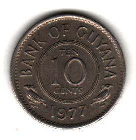 Гайана 10 центов 1977