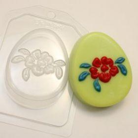 Форма для мыла и шоколада Яйцо плоское/Крупный цветок