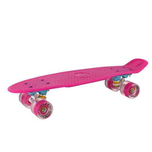 Мини-круизер PNB-01GW Pink светящиеся колеса