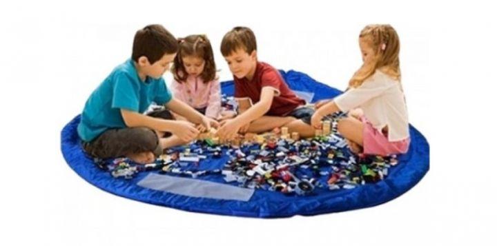 Сумка-коврик для игрушек Toy Storage Bag - коврик для игры и мешок для хранения  игрушек, два в одном.