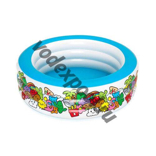 Детский надувной бассейн Bestway 51121 (152х51 см) Фантазия