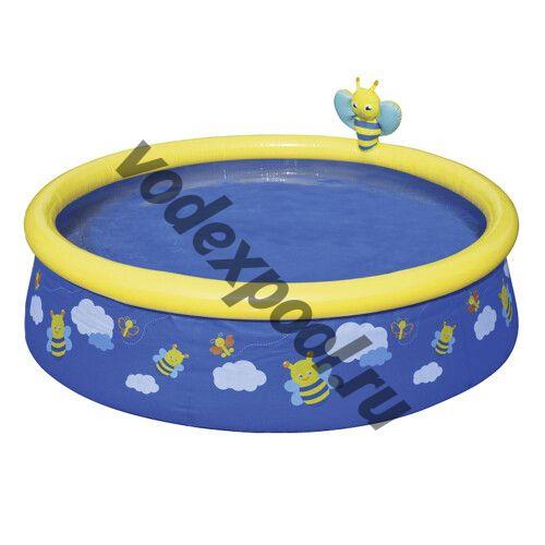 Надувной бассейн Bestway 57326 Пчёлки (152x38 см) с распылителем