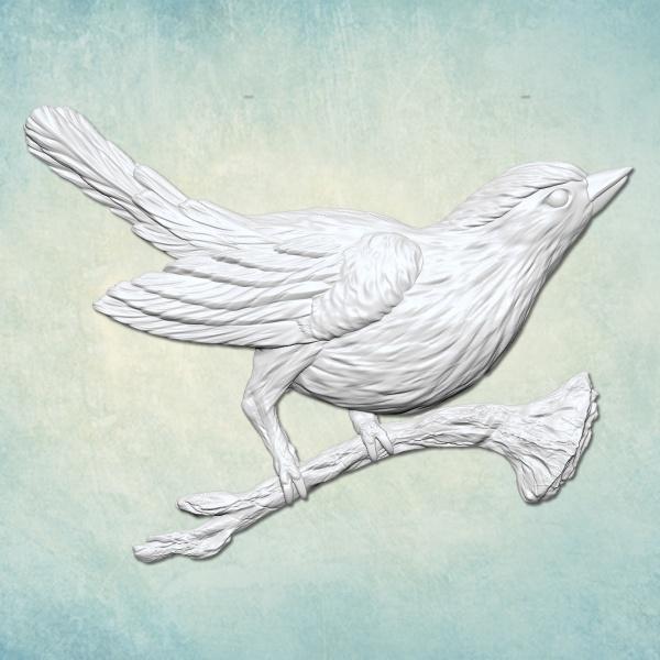 Молд Птица на ветке