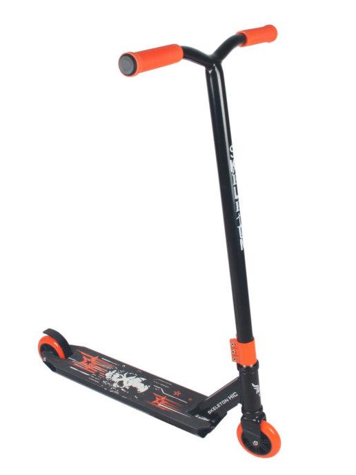 Самокат трюковой Skeleton 2.0 черно-оранжевый