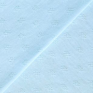Трикотаж кулирка ажурная светло-голубая 50*30 см.