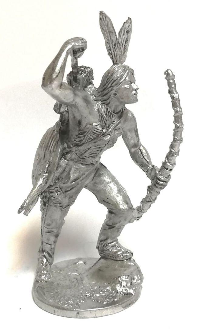 Фигурка индеец олово