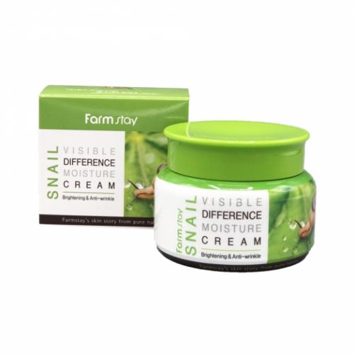 281065 FarmStay Увлажняющий крем с улиточным муцином Snail Visible Difference Moisture Cream