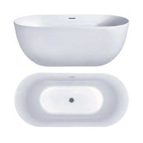Отдельностоящая акриловая ванна Hatria Y7AX 170х78 ФОТО
