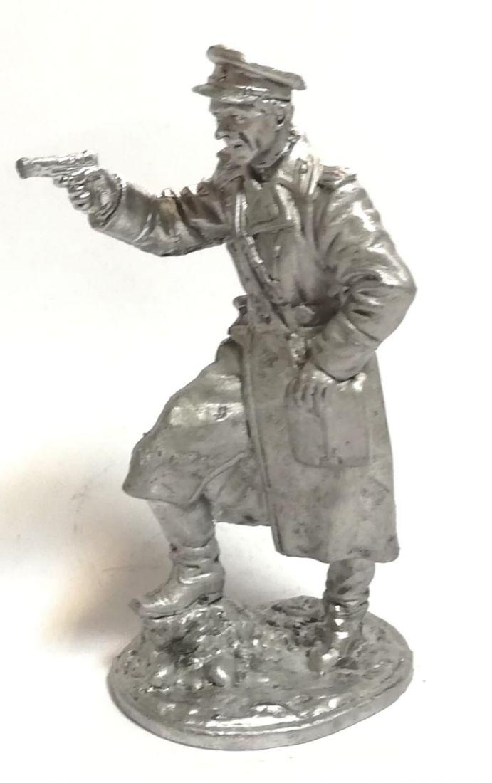 Фигурка офицер с пистолетом олово
