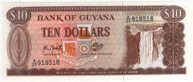 Гайана 10 долларов 1966-92