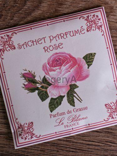 Ароматическое саше в бумажном пакете Le Blanc Роза