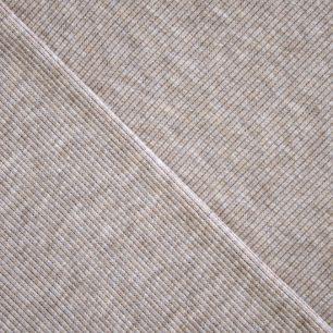 Лоскут трикотажной ткани кашкорсе Бежевый меланж 50*27 см.