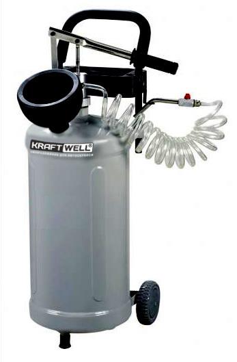 KraftWell KRW1917 Нагнетатель масла мобильный, с ручным приводом
