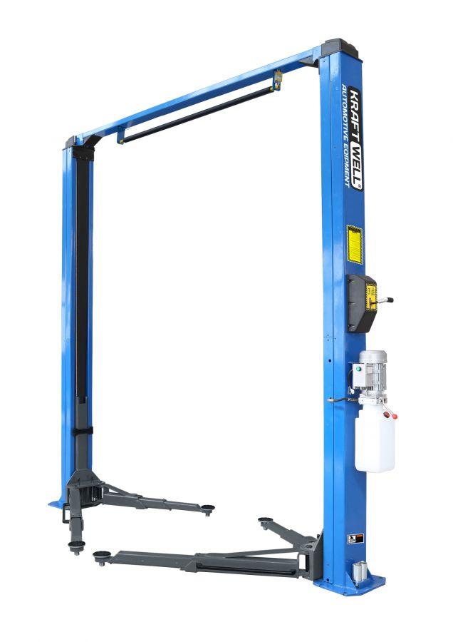 KraftWell KRW4MU/220_blue Подъемник двухстоечный г/п 4000 кг. электрогидравлический