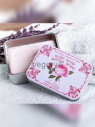Мыло Le Blanc в жестяной коробочке Роза