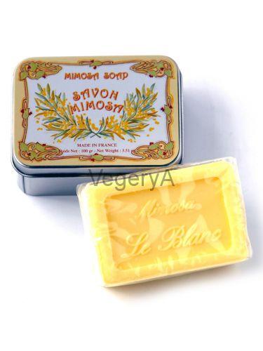 Мыло Le Blanc в жестяной коробочке Мимоза