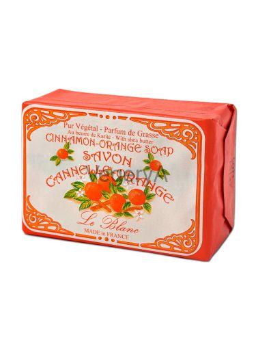 Мыло Le Blanc в бумажной упаковке Корица апельсин