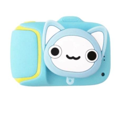 Детский цифровой мини фотоаппарат Cartoon Camera, котик с милым дизайном и простотой в использовании для ребенка.