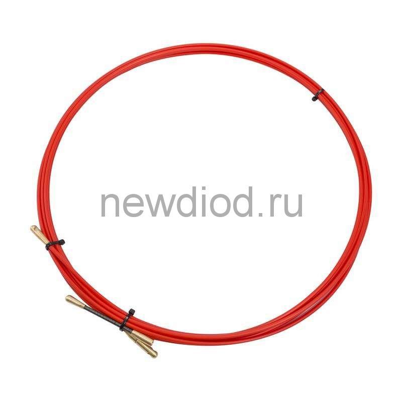 Протяжка кабельная REXANT (мини УЗК в бухте), стеклопруток, d=3,5 мм 5 м, красная