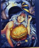 "Cross stitch pattern ""Enchantress""."