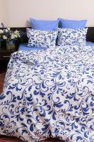 Бязь 1.5 спальный [синий] Гжель постельное белье