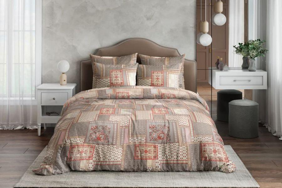 Бязь 2-х спальный [коричневый] Алабама постельное белье