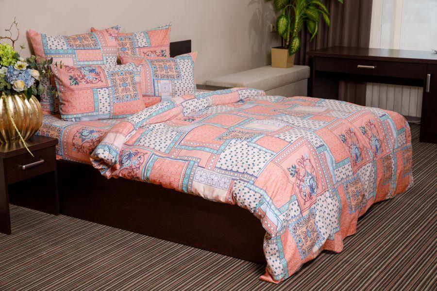 Бязь 2-х спальный [розовый] Алабама постельное белье