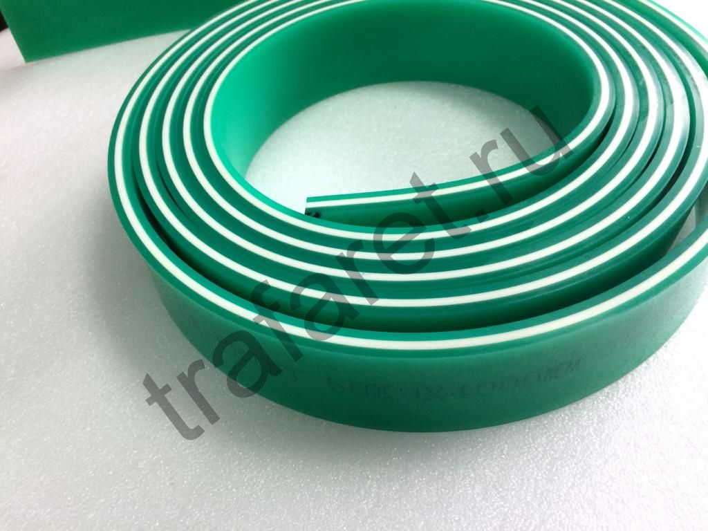 Ракельное полотно LM-PRINT 75/90/75 (зелён./бел./зелен.). 9x50 mm., 1 м. пог