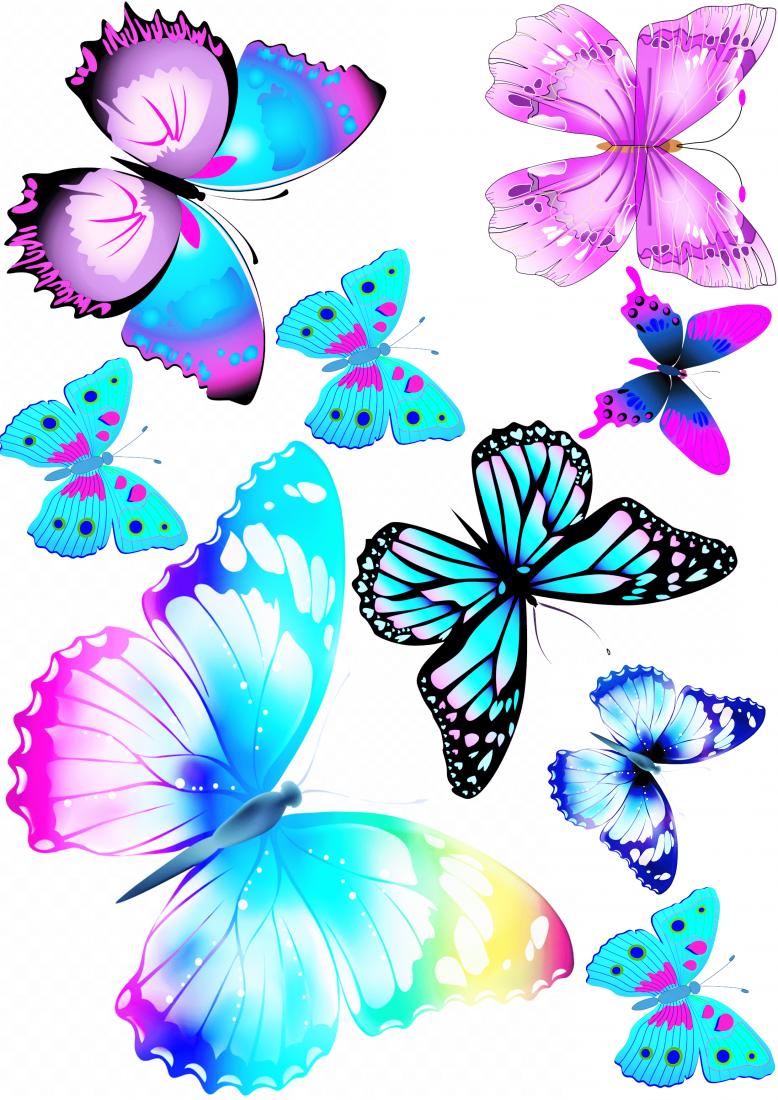 Вафельная картинка Бабочки  (10)