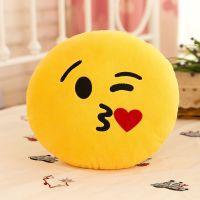 """Подушка Emoji """"Kissing Emoji"""" Эмоджи """"Поцелуй"""" 35 см"""