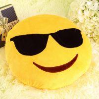 """Подушка Emoji """"Sunglasses Emoji"""" Эмоджи """"В очках"""" 35 см"""