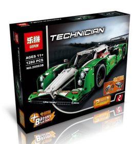 Конструктор Зеленый гоночный автомобиль с PF