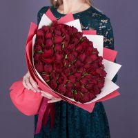Акция! 101 красная роза 40 см