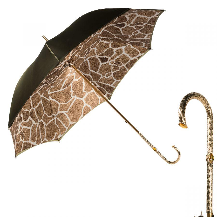 Зонт-трость Pasotti Becolore Giallo Fur Oro