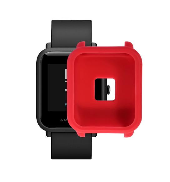 Защитный бампер для Xiaomi Amazfit Bip ( Красный )