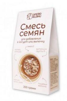 """СМЕСЬ СЕМЯН """"Для добавления в йогурт или выпечку"""" 200гр"""